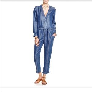 Free people chambray jumpsuit size 12